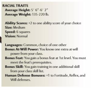 4e char race abilities