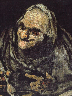 GOYA PAINTING OF OLD MEN EATING